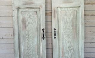 diy faux window shutters from a repurposed door, curb appeal, doors