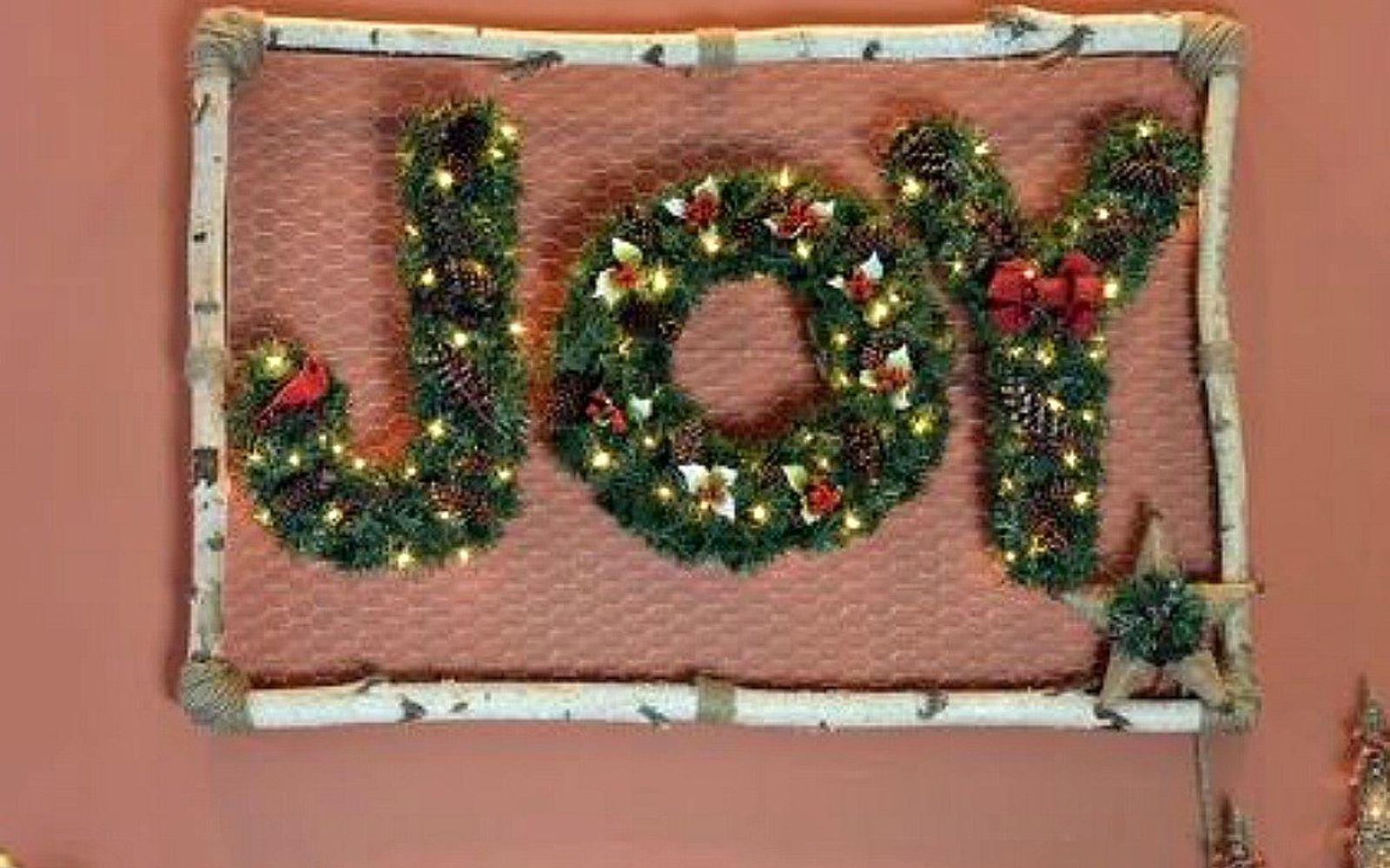 s hang your christmas lights in these 10 breathtaking spots, On your wall in letters