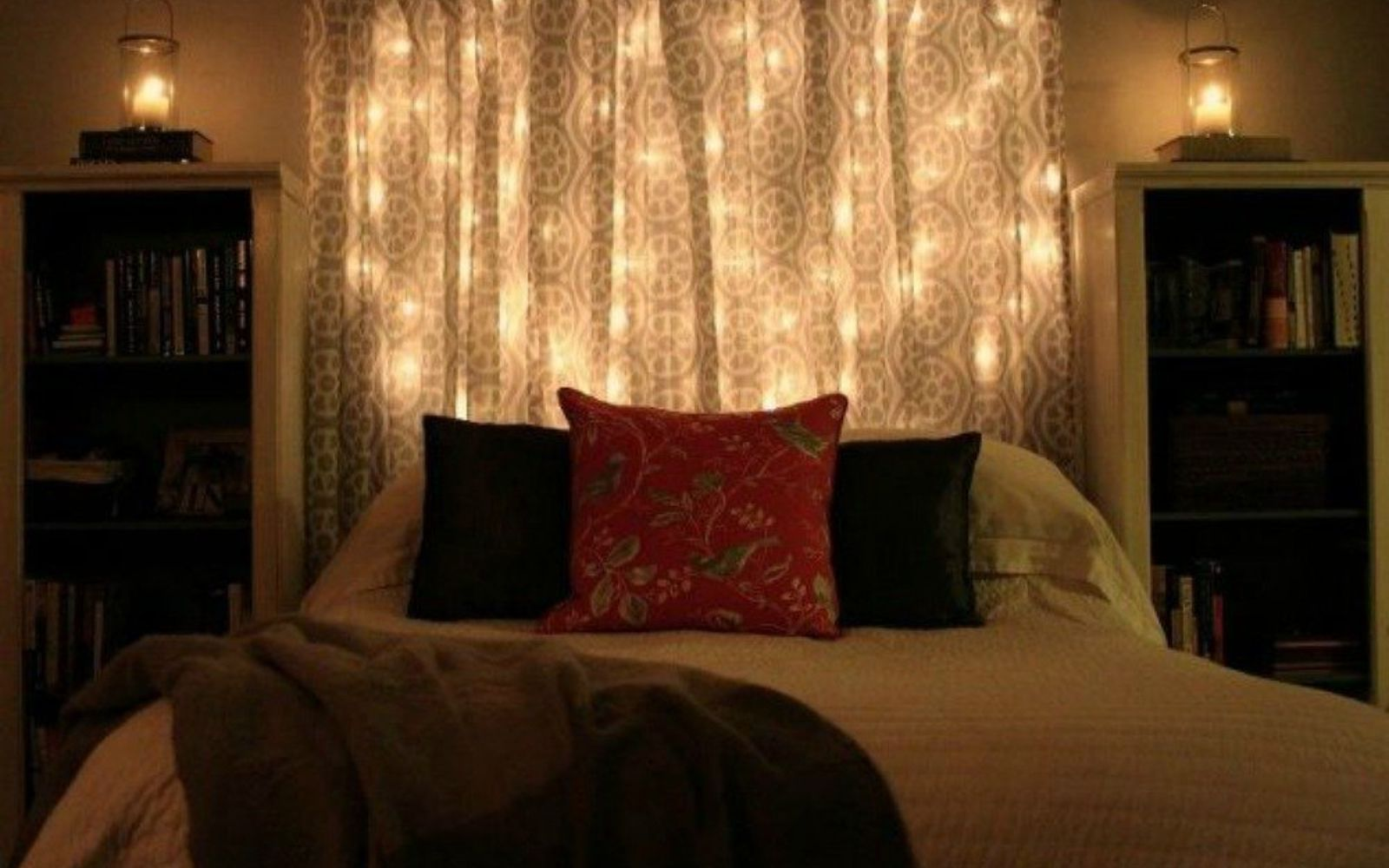 s hang your christmas lights in these 10 breathtaking spots, In your bedroom for a dreamy headboard