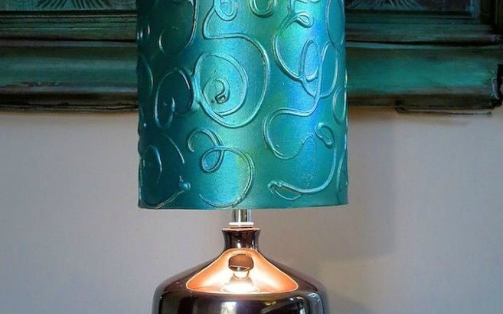 s these gorgeous transformations will make you rethink your lamp shades, lighting, window treatments, windows, Create a raised textured design