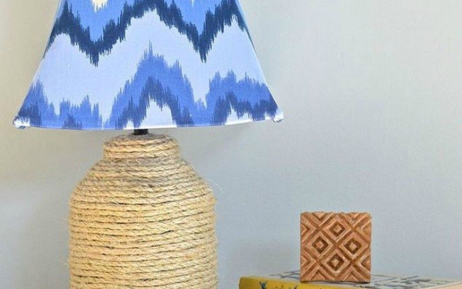 s these gorgeous transformations will make you rethink your lamp shades, lighting, window treatments, windows, Wrap your favorite fabric around the frame