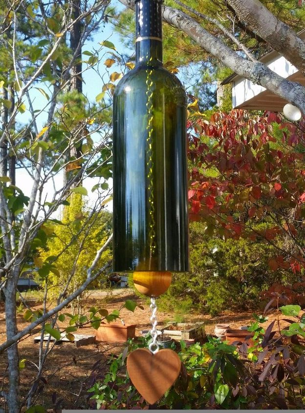 How To Make A Wine Bottle Wind Chime Hometalk