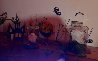 ghost in a jar diy halloween craft, crafts, halloween decorations, seasonal holiday decor
