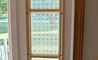 glass etched front door side window, crafts, doors, how to, window treatments, windows