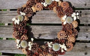 natural pine cone wreath, crafts, gardening, woodworking projects, wreaths