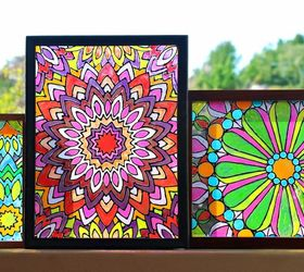 Faux Stained Glass with Mandala DesignHometalk