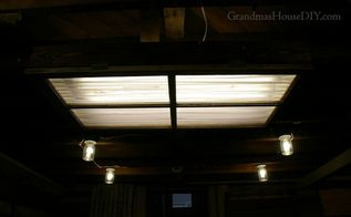 how to diy a florescent light box cover out of an old window, basement ideas, how to, lighting