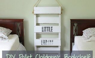 diy pallet bookshelf for kids, pallet, shelving ideas, storage ideas