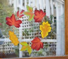 paint leaves on an old window for a unique wreath, crafts, home decor, wreaths