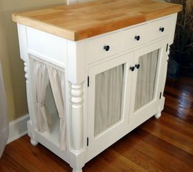 Diy Kitty Litter Cabinet Hides Ugly Litter Box, Kitchen Cabinets, Kitchen  Design, Painted