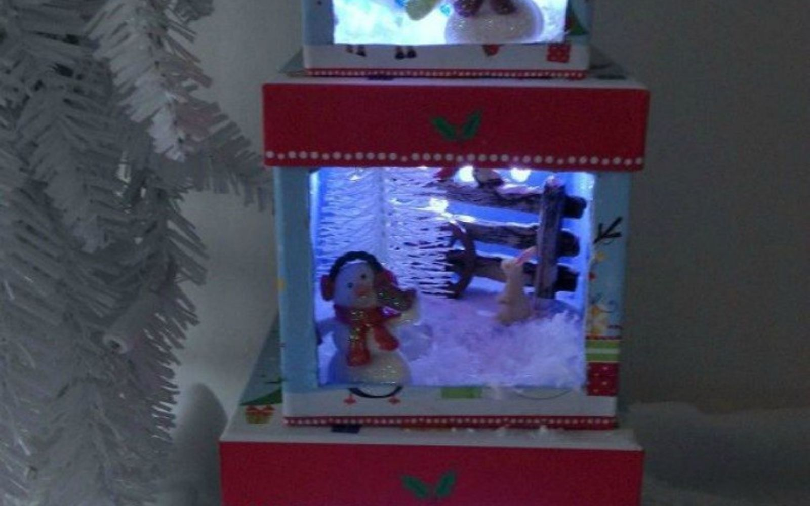 s cut up cardboard for these breathtaking christmas ideas, christmas decorations, Turn them into Christmas dioramas