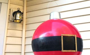 giant bouncy ball ornaments, christmas decorations, seasonal holiday decor