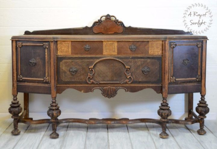 How To Refinish An Old Worn Out Buffet Hometalk