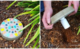 diy stepping stone with secret key hider, concrete masonry, crafts, home decor, outdoor living, repurposing upcycling