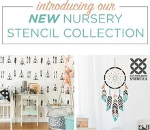 introducing our new nursery stencil collection, bedroom ideas, painting, wall decor