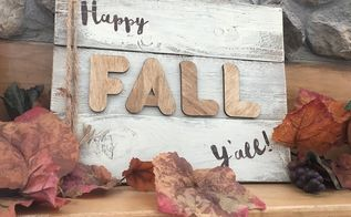 make your own happy fall y all sign, crafts, home decor, thanksgiving decorations, DIY Happy Fall Y all sign