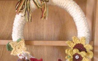 thanksgiving wreath, crafts, home decor, wreaths
