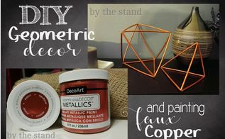 diy geometric decor shapes, home decor