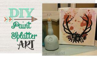 diy paint splatter art, crafts