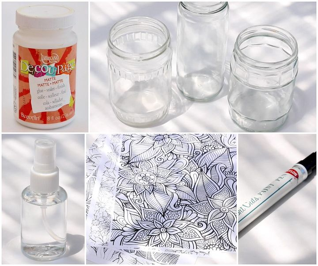 Craft Ideas Empty Jam Jars: Glass Jar Makeover