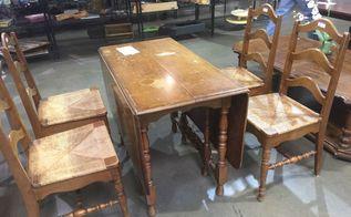 dropleaf table makeovee, painted furniture