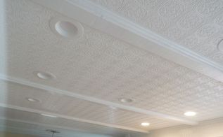 wall paper your ceiling, wall decor