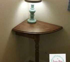 Exceptional Old Table Turned Into Space Saving End Table, Painted Furniture ...