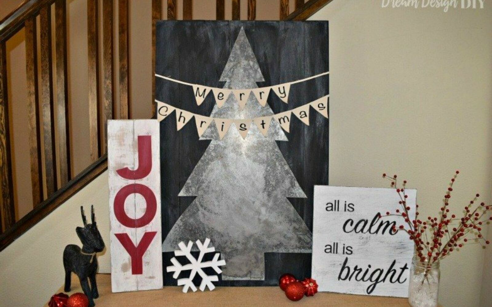 s 9 creative ideas that will change the way you see sheet metal, crafts, home decor, Add a Galvanized Christmas Tree to Your Decor