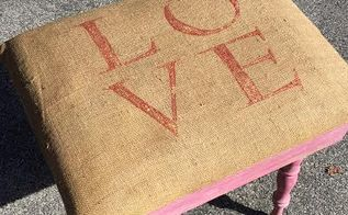 love bench stencil project, chalk paint, crafts, outdoor furniture