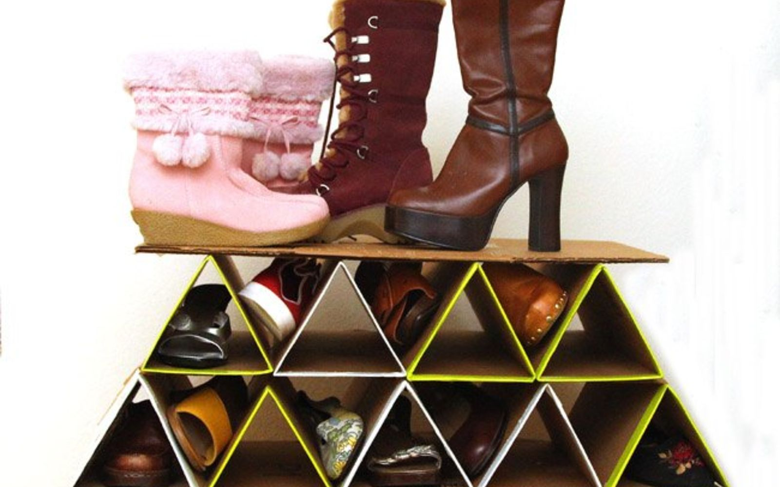 s pamper your guests without spending money 13 ideas , home decor, Build some quick temporary shoe storage