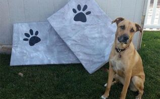 new upcycled no sew dog bed covers from an unlikely combo, home decor, outdoor living, pallet, repurposing upcycling