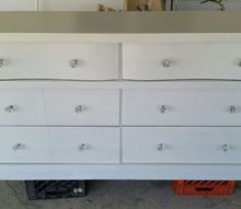 how i tranformed a black dust dresser into a diamond , painted furniture