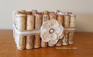 make a basket out of wine corks, crafts