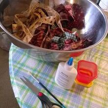 homespun fruit and veggie bowl