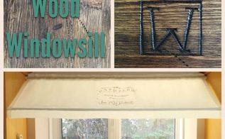 give your windowsill a reclaimed wood finish , A reclaimed wood windowsill DIY