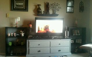 7 50 entertainment center, entertainment rec rooms, painted furniture, A tv stand I can live with