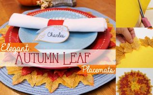 quick leafy autumn placemats, seasonal holiday decor
