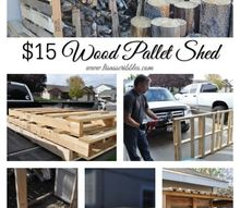 15 wood pallet shed, outdoor living, pallet