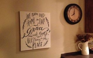 love grace tea towel wall decor, bathroom ideas, home decor, wall decor