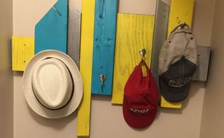 coat hat rack out of wood scraps