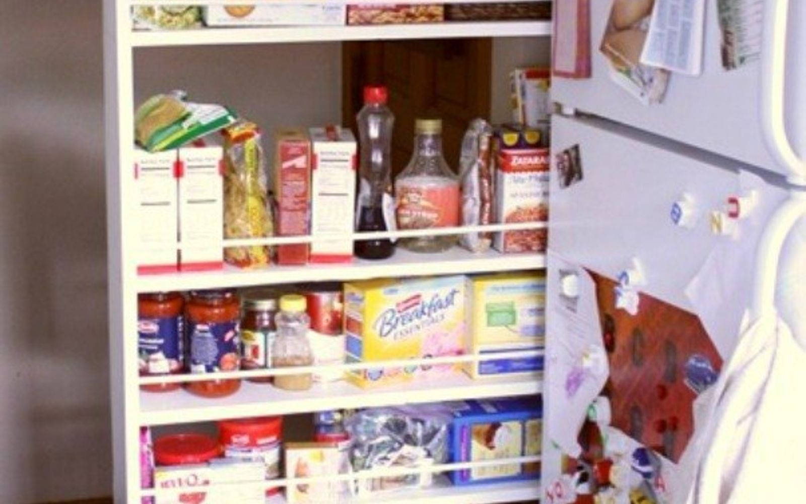s add more pantry space with these brilliant hacks, closet, Repurpose a bookcase with little effort