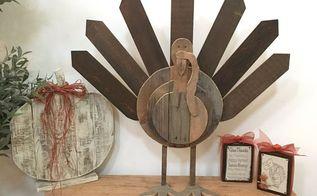rustic wood turkey