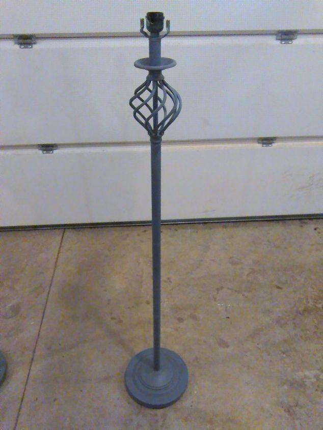 standing floor lamp into a plant stand flooring gardening lighting. Black Bedroom Furniture Sets. Home Design Ideas
