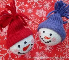snowman ornaments from golf balls , christmas decorations, seasonal holiday decor, Snowman Ornaments from golf balls