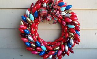 vintage lights christmas wreath, crafts, wreaths
