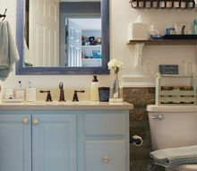 polished casual bathroom reveal orc week 6 , bathroom ideas