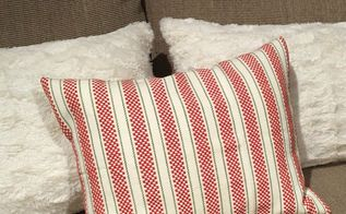 diy holiday pillows from dish towels, bathroom ideas