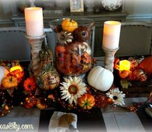 festive thanksgiving tablescape, seasonal holiday decor, thanksgiving decorations