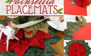 quick elegant poinsettia christmas placemats, gardening