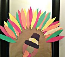 easy dyi turkey mirror, home decor